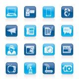 Ícones de uma comunicação e da tecnologia Imagens de Stock Royalty Free