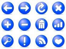 Ícones de uma comunicação em botões, ilustração royalty free