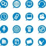 Ícones de uma comunicação (vetor) Fotografia de Stock