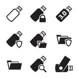 Ícones de USB Fotos de Stock Royalty Free