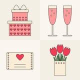 Ícones de Valentine Day Fotos de Stock