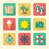 Ícones de viagem ajustados Imagem de Stock