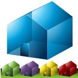 Ícones de vizinhança residenciais Imagens de Stock