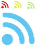 Ícones de Wifi Fotografia de Stock
