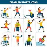Ícones deficientes dos esportes Fotos de Stock Royalty Free