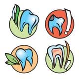 Ícones dentais Fotografia de Stock Royalty Free
