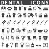 Ícones dentais ilustração stock