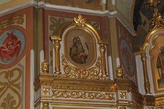 Ícones dentro da igreja ortodoxa Imagem de Stock Royalty Free