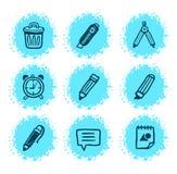 Ícones desenhados mão Imagem de Stock