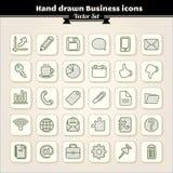 Ícones desenhados mão do negócio Foto de Stock Royalty Free