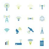 Ícones diferentes ajustados do rádio e do wifi do vetor ilustração royalty free