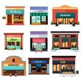 Ícones diferentes da loja Fotografia de Stock Royalty Free