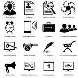 Ícones diferentes para desenhistas avançados Fotografia de Stock Royalty Free