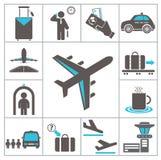 Ícones do aeroporto Fotografia de Stock Royalty Free