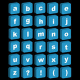 ícones do alfabeto 3D - lowercase Imagens de Stock