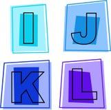 Ícones do alfabeto Fotos de Stock Royalty Free
