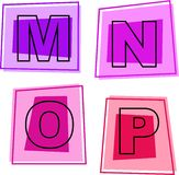 Ícones do alfabeto Imagens de Stock Royalty Free
