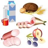 Ícones do alimento Foto de Stock