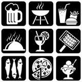 Ícones do alimento Imagem de Stock