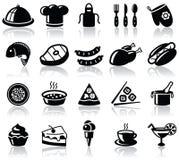 Ícones do alimento Imagem de Stock Royalty Free