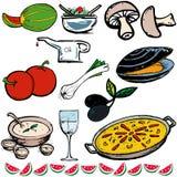 Ícones do alimento ilustração royalty free