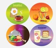 Ícones do alimento. Fotografia de Stock Royalty Free