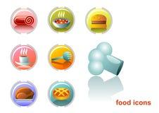 Ícones do alimento Fotos de Stock