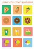 Ícones do alimento ilustração do vetor
