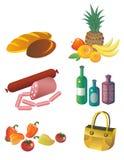Ícones do alimento Fotos de Stock Royalty Free