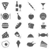 Ícones do alimento ajustados Fotografia de Stock