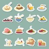 Ícones do alimento ajustados Imagem de Stock