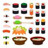 Ícones do alimento de Ásia ilustração royalty free