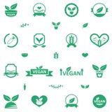 Ícones do alimento do vegetariano Imagem de Stock Royalty Free