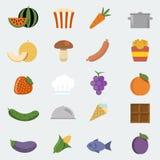 Ícones do alimento do vetor ajustados Imagem de Stock Royalty Free