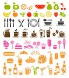 Ícones do alimento e da bebida Fotografia de Stock Royalty Free