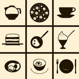 Ícones do alimento e da bebida Fotos de Stock Royalty Free