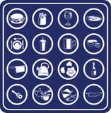 Ícones do alimento e da bebida Fotos de Stock