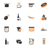 Ícones do alimento e da cozinha ajustados Imagem de Stock Royalty Free