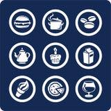 Ícones do alimento e da cozinha (ajuste 9, parte 1) Fotografia de Stock