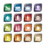 Ícones do alimento e das bebidas Imagem de Stock Royalty Free