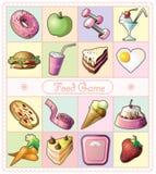 Ícones do alimento e das bebidas Imagens de Stock Royalty Free