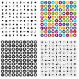 100 ícones do alimento natural ajustados variantes Ilustração do Vetor