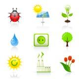 Ícones do ambiente e da ecologia ilustração royalty free
