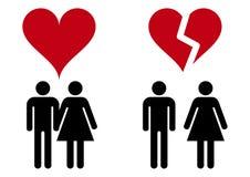 Ícones do amor Imagem de Stock Royalty Free