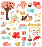 Ícones do amor Fotografia de Stock Royalty Free