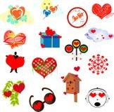 Ícones do amor para um local Fotos de Stock