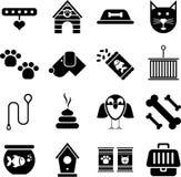 Ícones do animal de estimação Imagens de Stock
