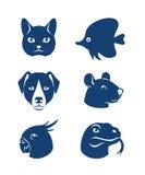 Ícones do animal de estimação ilustração do vetor