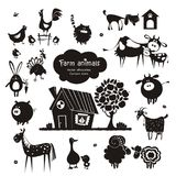 Ícones do animal de exploração agrícola Imagens de Stock