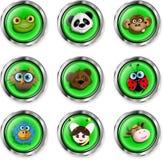 Ícones do animal dos desenhos animados Fotografia de Stock Royalty Free
